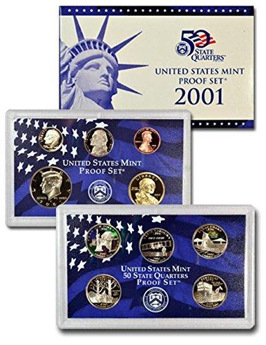 2001 Clad U.S. Mint-Proof Sets Mixed Dollar GEM Proof Uncertified (Rhode Island Mint Coin Set)