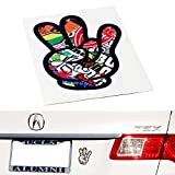 iJDMTOY (2) Graffiti Style JDM Drift Racing Turbo New Driver Dope Shocker Hand Sticker Decal, Made with Reflective Vinyl