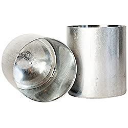 Candlewic 2Pk of 3 X 3.5 Inch Round Aluminum One P