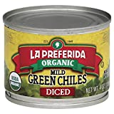 La Preferida Organic Green Chiles, Mild-Diced, 4 oz (Pack - 1)