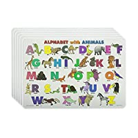 M. Ruskin Company Alphabet with Animals Placemat Set of 6