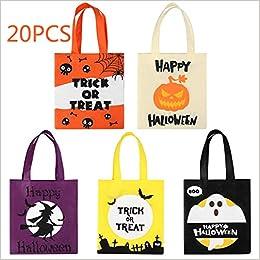 BESTonZON 20 Bolsas de Halloween para Truco o golosinas ...