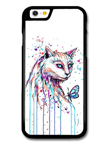 Beautiful Cat Painting with Blue Eyes and Butterfly case for iPhone 6 6S