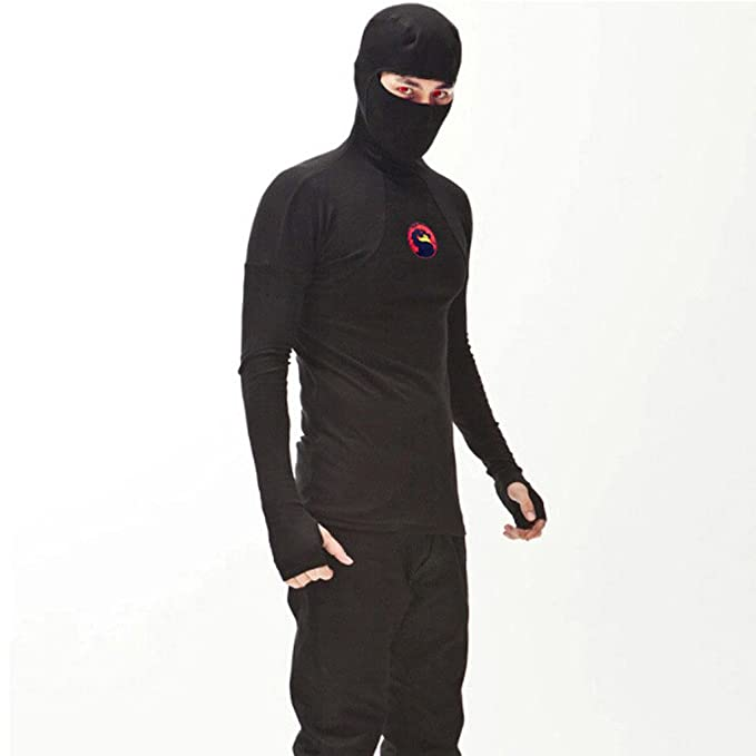Amazon.com: Mokewen Mens Face Mask Gloves Long Sleeve T ...