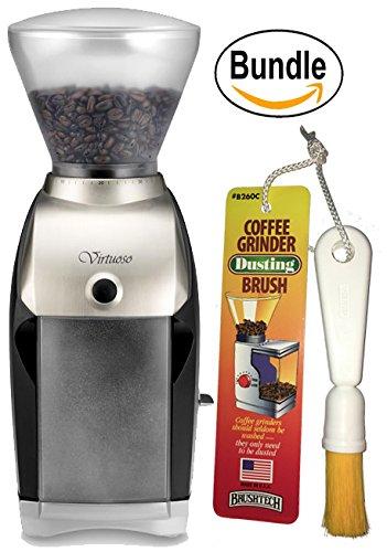 Baratza Virtuoso 586 Coffee Grinder & Brushtech Coffee Grinder Dusting Brush (Bundle)