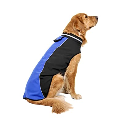 RETUROM Ropa para Mascotas, Impermeable Mascota Perro Grande Cachorro Chaleco Ropa Abrigo: Amazon.es: Ropa y accesorios