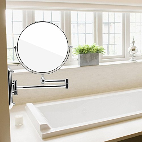 -[ Spaire Bathroom Mirror 7X/1X Magnification Double-sided 8 Inch Wall Mounted Vanity Magnifying Mi