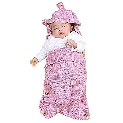 domybest bebé recién nacido Swaddle Wrap Manta con borla de con capucha Cap Infant Toddler saco de dormir Pijama Sleepsack para 0 - 12 meses azul marino: ...