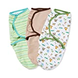 Summer Infant 73984 SwaddleMe Neutral (Mom & Baby, Sage Stripe & Cappucino)  (Pack of 3)