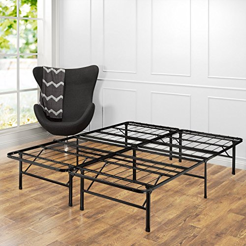 zinus 14 inch smartbase mattress foundation platform bed frame box spring replacement quiet noise free maximum under bed storage king - Platform Bed Frame For Memory Foam Mattress