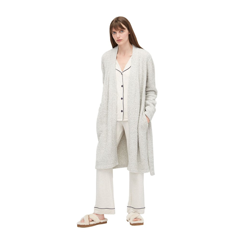 UGG Ana Sweater Plush Knit Robe, XL, Driftwood