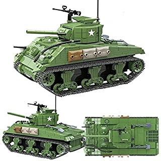 WW2 M4 Sherman Model Military Army Tank Toy Brick Building Set - Building Blocks Tank Kit