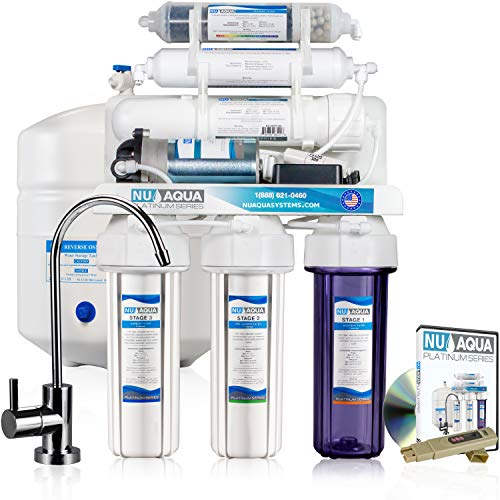 NU Aqua Platinum Series 6 Stage Alkaline 100GPD RO System with Booster Pump ()
