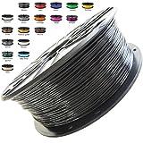 Melca 1.75 3D Printer Filament PLA 1kg +/- 0.03mm, Black