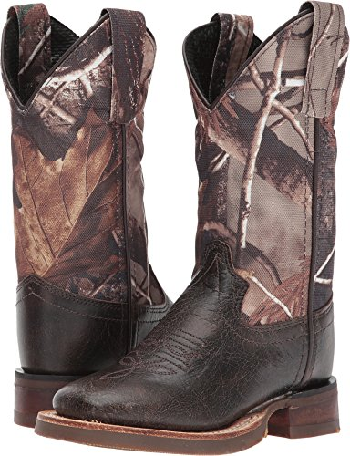 Old West Kids Boots Unisex Broad Square Toe (Toddler/Little Kid) Chocolate 13 M US Little Kid M