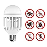 Bug Zapper Light Bulb with LED light bulb, Fly Killer, Mosquito Killer, Built in Insect Trap, Fits in 110v Light Bulb Socket, Perfect for Indoor Home Garden Patio Backyard