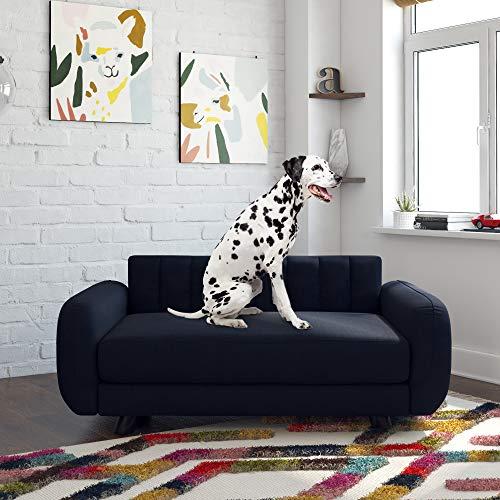 Novogratz 6251649N Brittany, Large Pet Bed Furniture,Blue Linen Sofas