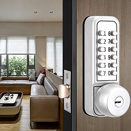 SPOTACT Combination Mechanical Lock Password Key Dual Use Multi Function Anti Theft Indoor and Outdoor Door Lock Lock Bolt by Spotact (Image #3)