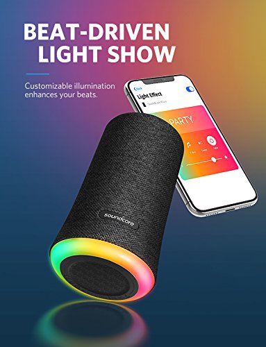 Soundcore Flare Portable Bluetooth 360° Speaker by Anker, with All-Round Sound, Enhanced Bass & Ambient LED Light, IPX7 Waterproof Rating and Long-Lasting Battery Life