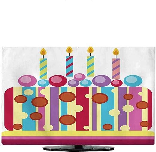 Cobertor de TV para Interior Color Crema para Tartas de cumpleaños Vector 430 Pulgadas / 32 Pulgadas: Amazon.es: Electrónica