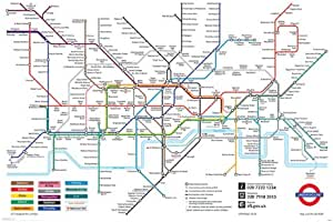 Mapa del metro de Londres - Póster - 61 cm x 91,5 cm