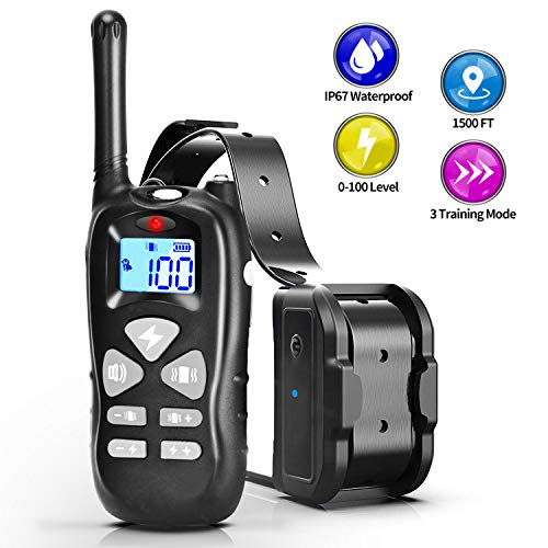 - YINDIA Shock Collar for Dogs, Rechargeable Dog Training Collar with 3 Mode Beep/Vibration/Shock Dog Shock Collar with Remote 1500FT Range Waterproof Shock Collar for Small Dogs and Large Dogs (FDC3)