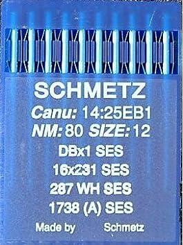 + Needle Threader Schmetz Industrial Sewing Machine Needles: 16x231-60//8 Single Packet Packet of 10