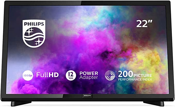Philips 22PFS5403/12 22 pulgadas, 55 cm, Televisor Full-HD (Pixel plus HD, Sintonizador triple), color Negro: Philips: Amazon.es: Electrónica