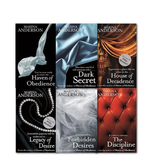 Marina Anderson Collection 6 Books Set, Legacy of Desire, House of Decadence, Dark Secret and Haven of Obedience - Anderson Collections Set