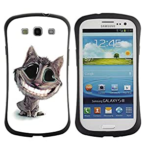 Suave TPU GEL Carcasa Funda Silicona Blando Estuche Caso de protección (para) Samsung Galaxy S3 I9300 / CECELL Phone case / / Cat Big Smile Teeth White Feline Art Cartoon /