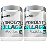 Collagen Peptides Hydrolyzed Powder 16 oz (Pack of 2) Non-GMO Grass-Fed Gluten-Free Kosher Unflavored - Easy to Mix Drink - Premium Beef Collagen Powder 1 Pound Each