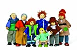 Hape Doll Family Of 7 Made Of Bamboo, Baby & Kids Zone