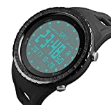 Men's Sport Watch Big Face Digital Luminous Dial Display J-s1246 Waterproof Chronograph with Rubber Strap