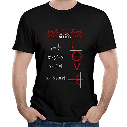 All You Need Is Love And Math Logo For Men's Tshirts