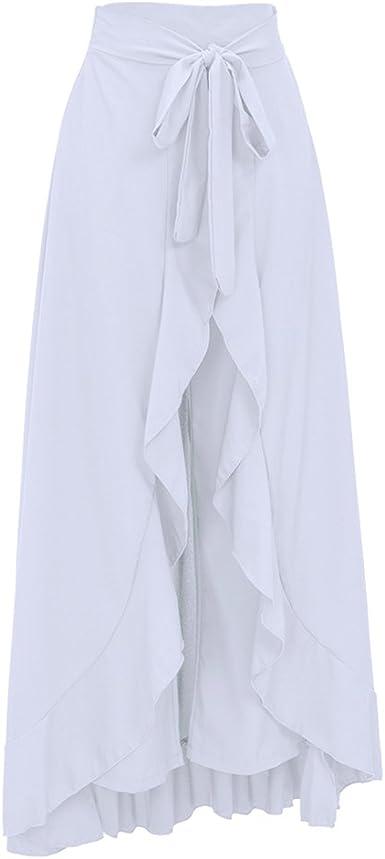 hibote 2 en 1 Falda Pantalones para Mujer, Faldas de Gasa ...