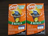 Off Power Pad Refills for Mosquito Lamp & Lantern Pack of 2
