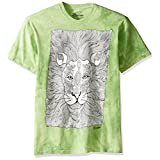 The Mountain Men's Colorwear Animals 7 Lion Adult Coloring T-Shirt, Green, Large