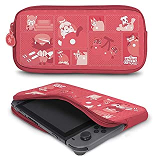 Controller Gear Protective Portable Neoprene Travel Carry Case Compatible with Nintendo Switch and Switch Lite - Animal Crossing - Quilted Tone. - Nintendo Switch