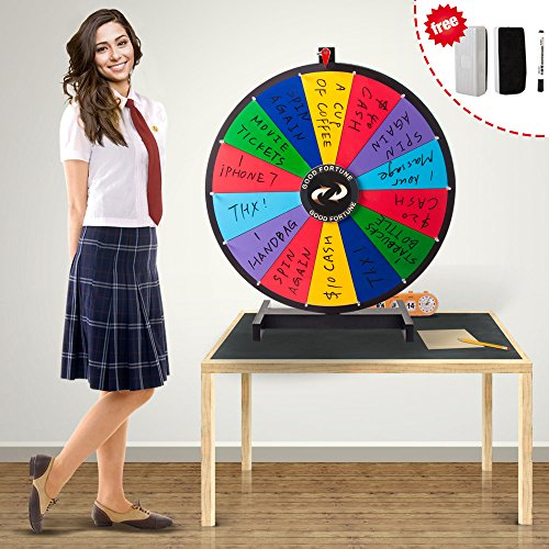 LINSGROUP(TM) 24'' Tabletop Spinning Prize Wheel 14 Block Color (24 inches)