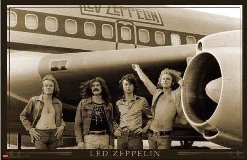 "Hotstuff Led Zeppelin Airplane (1973) Starship Plane Poster Rock Metal Music Size 24""x36"""