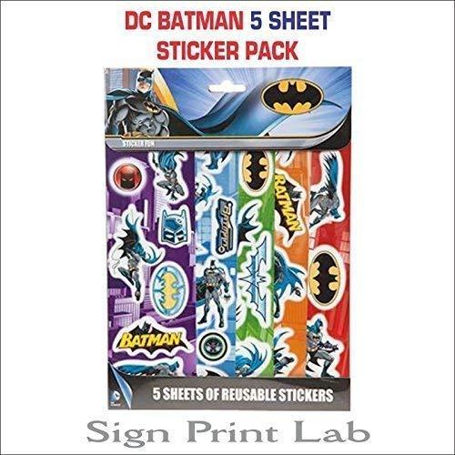 Batman pegatina pack de 5 lámina- Fiesta favours-bag relleno ...