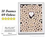 Wedding Guest Book Drop in Top Hearts Guest Book