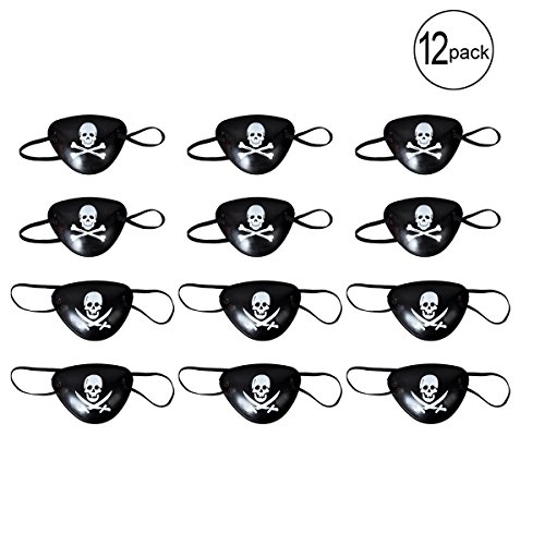 Pinatas Adult Costumes (BUYDEAL Pirate Eye Patches for Halloween Party Favors and Pirate Costume)