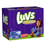 Luvs With Ultra Leakguards Size 4 Diapers 180 Count
