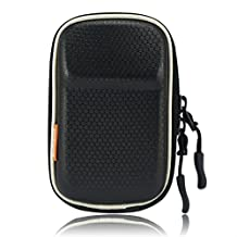 New BDX0501 first2savvv heavy duty black camera case for Canon PowerShot SX600 HS PowerShot N100 Nikon COOLPIX S9700 COOLPIX S9600 COOLPIX S32 OLYMPUS TG-850 FUJIFILM FinePix XP70 FUJIFILM X-Q1 Canon PowerShot SX600 HS PowerShot N100 with card reader