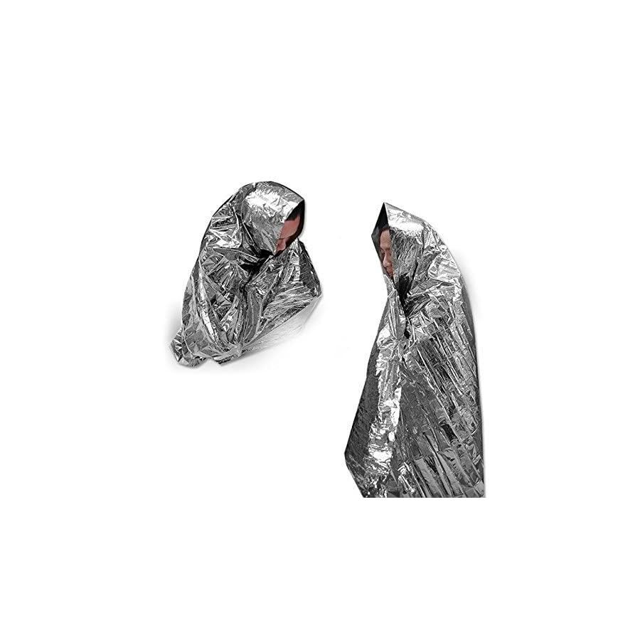 Leberna Emergency Foil Mylar Thermal Blankets 59 x 87 inches (Pack of 10) Double Sided, All Weather Condition NASA Survival Space Blanket, Perfect for Outdoors, Camping, Hiking, Marathon, First Aid
