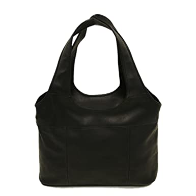 Amazon.com: Piel Leather Laptop Hobo, Black, One Size: Piel ...