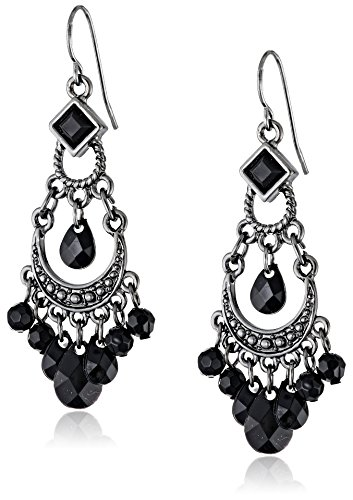 (1928 Jewelry Black Crescent Chandelier)
