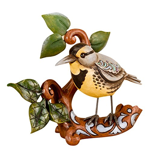 Jim Shore Heartwood Creek Meadowlark Figurine, 4-Inch Montana State Bird