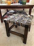 Cherry and Leather Milking Stool